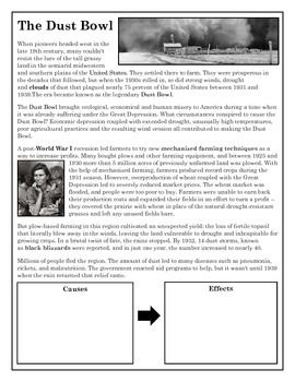 cause and effects of the dust bowl history essay Searches related to research paper the dust bowl course hero about -  630 results :  cause and effects of the dust bowl history essay uk essays.