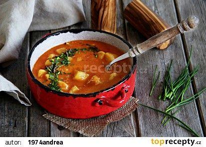 Jemná bramborová polévka recept - TopRecepty.cz