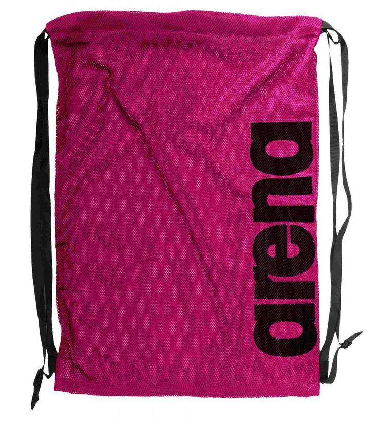Sterke nylon mesh tas die zowel als rugtas als extra tas in de trainingstas gebruikt kan worden. Biedt ruimte aan alle zwemaccessiores. Materiaal is van 100% polyester.