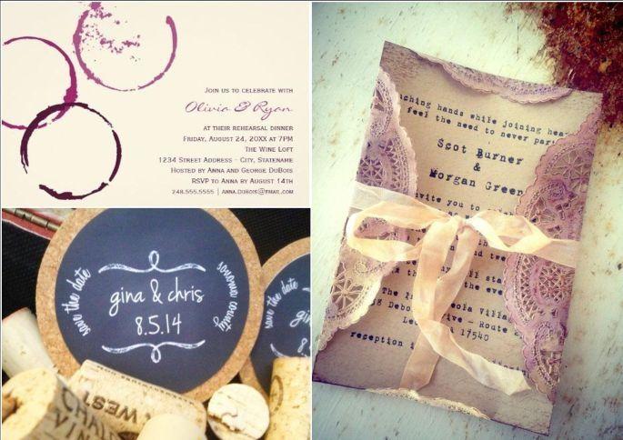 inviti per nozze dal gusto di-vino