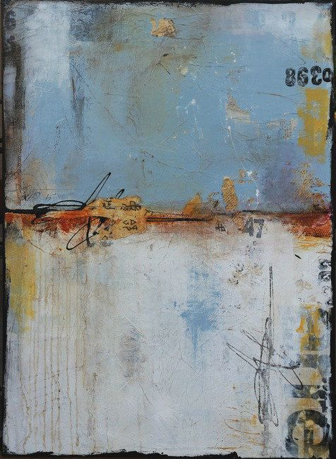 Title: Public Content        Gallery collectors piece -Made on large 30x40x1.5 canvas - this mixed media abstract painting is filled with lots of