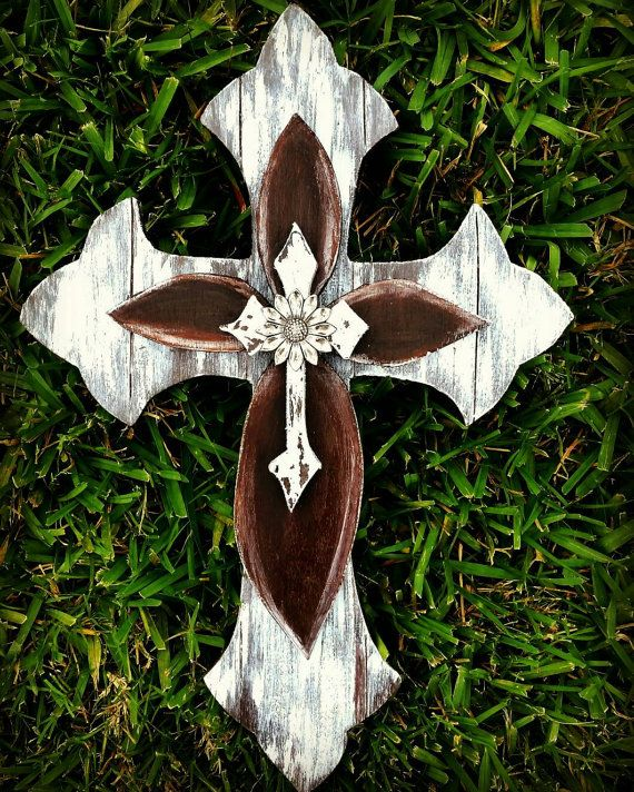 Check out this item in my Etsy shop https://www.etsy.com/listing/275887342/rustic-wall-cross-wooden-cross-cross
