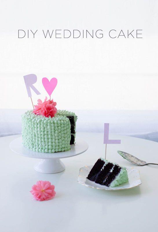 DIY Wedding Cake + Monogram Cake Toppers   Coco Cake Land - Cake Tutorials, Cake Recipes, Cake Blog, Cakes Vancouver