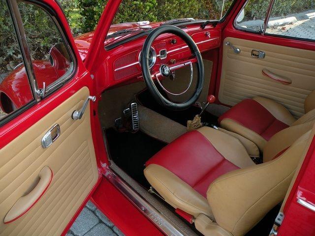 volkswagen beetle red interior carros pinterest escarabajo. Black Bedroom Furniture Sets. Home Design Ideas