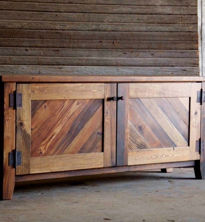 Great Brilliant Rustic Media Console With Wooden Ideas (4)
