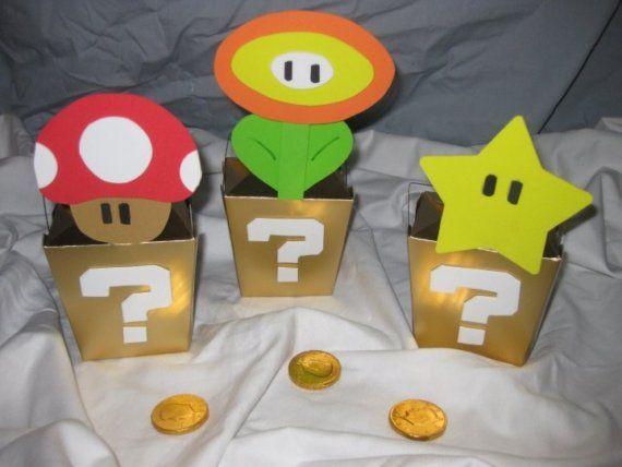 Super Mario,una idea facil para centro de mesa !