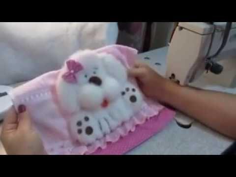 como faz o cachorrinho na toalha de bebê - YouTube