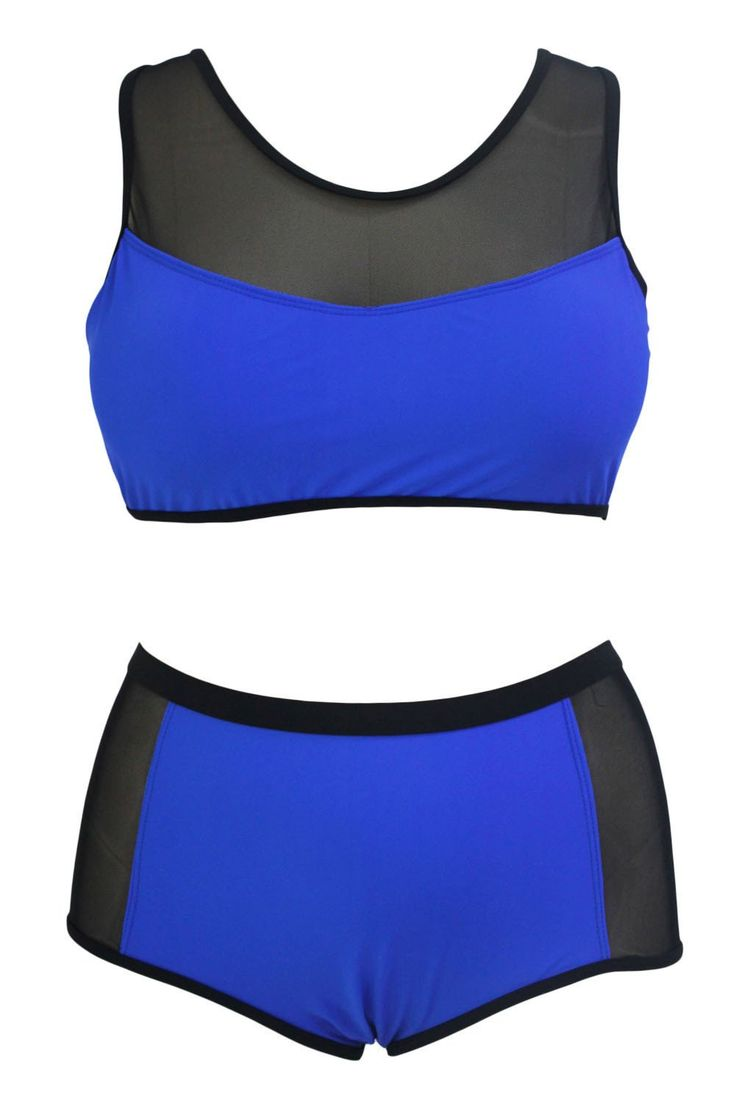 Indigo Scuba Sweetheart Plus Size Bikini ChicLike.com