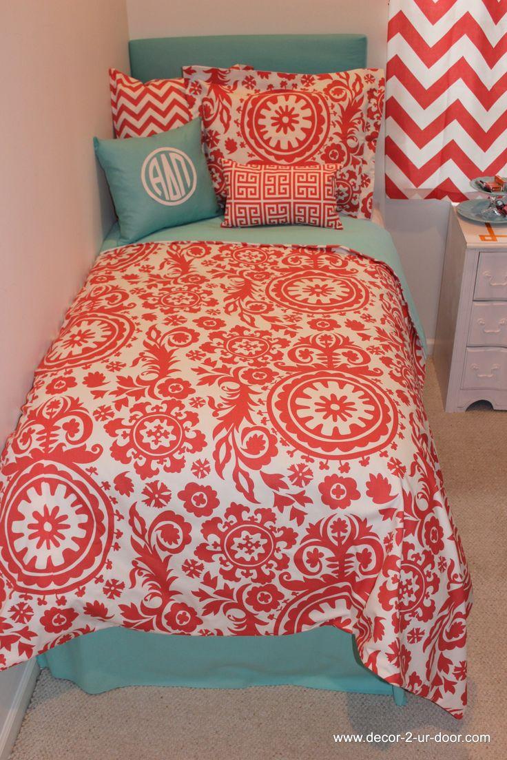 Design Your Own Dorm Txl Duvet Cover Coral Duvet