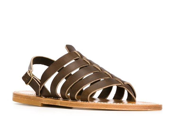 K Jacques women's flat sandals in espresso Leather - Italian Boutique €130