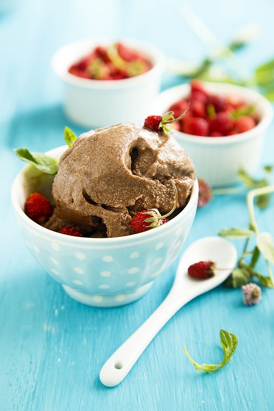 Шоколадное мороженое...без шоколада:)