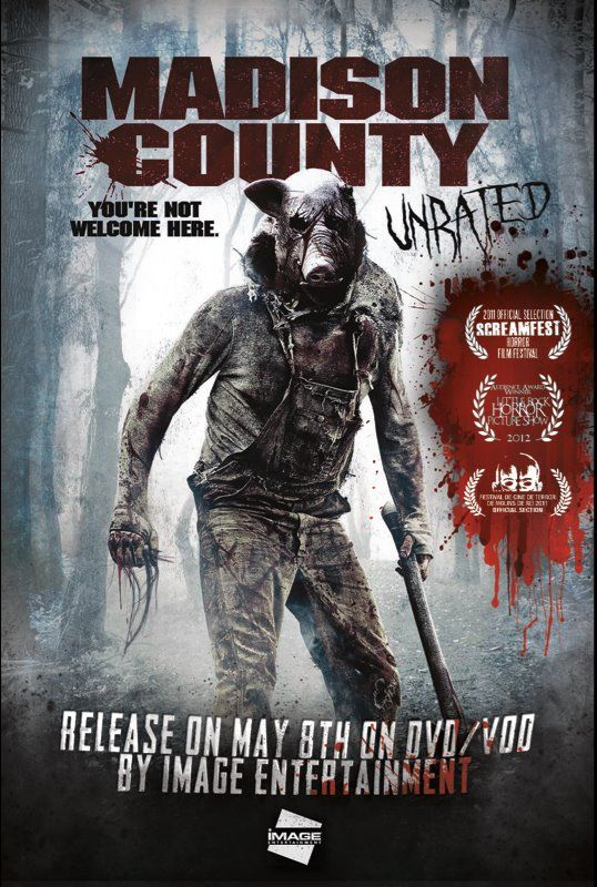 """ Madison County "" Unbearable suspense, unbearable terror. Could not watch the whole thing without breaks. Be forewarned."