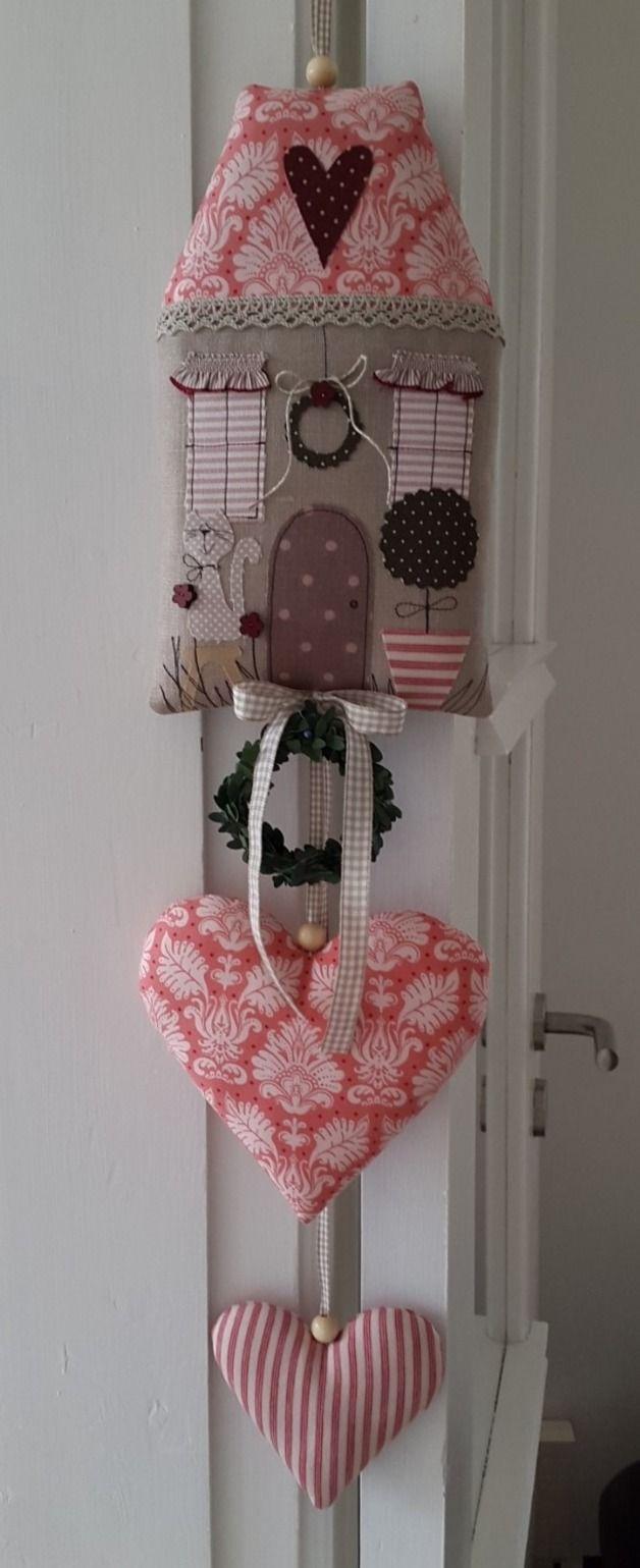 Girlanden & Wimpelketten - Frühling Haus Girlande Herzen Landhaus - ein Designerstück von Feinerlei bei DaWanda