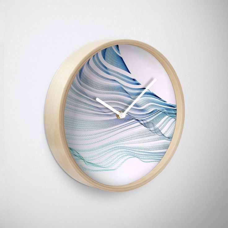 Buy 'Etherial Wave Blue, mint and pale pink on white' by Dominique Vari on Wall Clock on Redbubble . |   Spontaneous drawing digitalised in an etherial abstract flowing wave. Modern Art in pastels mint, blue on white & pink, uplifting & refreshing design for all minimalists & Ocean Lovers. Spread the good vibes in style at Home on a Wall Clock! Generative art. #homedecor #clock #wallclock #abstract #minimal #modern #white #dominiquevari #flow #arty #redbubble