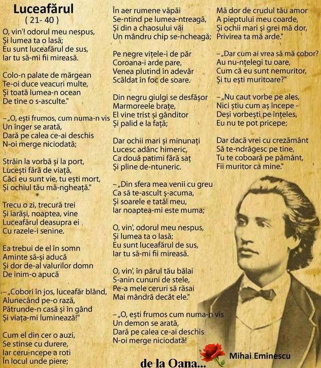Mihai Eminescu - Luceafarul -(21 - 40)