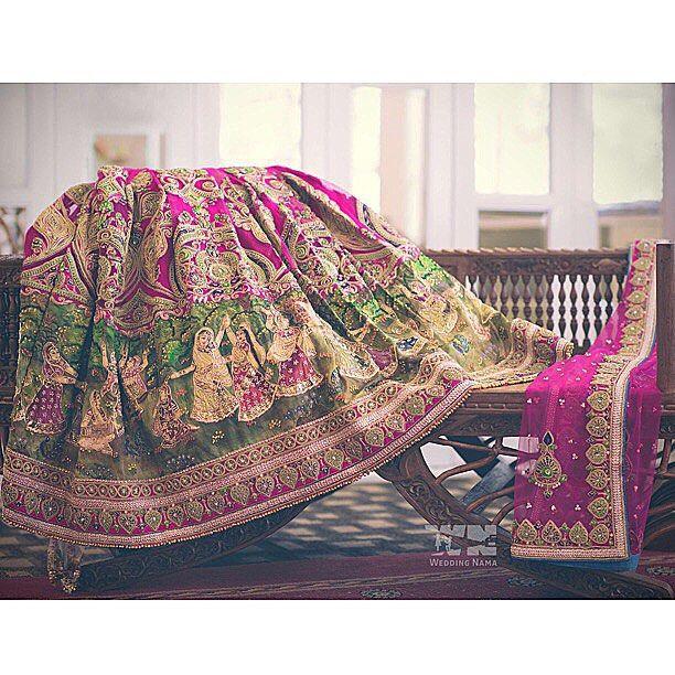 My beautiful @houseofneetalulla #RadhaRani inspired #Wedding #Lehenga, #HotPink…
