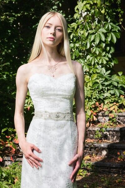 Carla - pendant.  Photography Nina Maaninka.  Dress Sinikka Nikander.  Model Belinda Nieminen.
