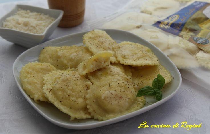 Ravioli ricotta e limone al parmigiano