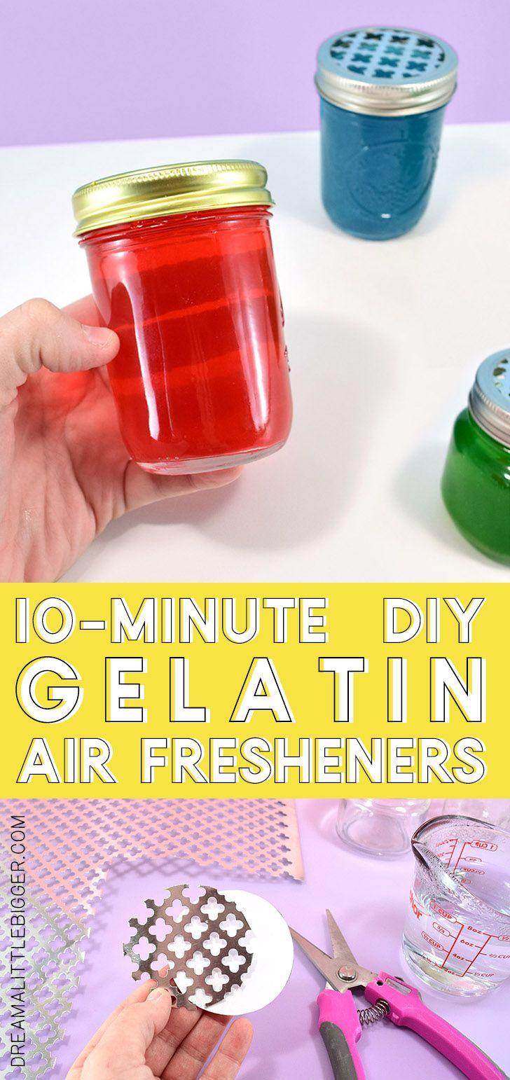 Diy Scented Gel Air Freshener Recipe Diy Lufterfrischer Diy Kerzen Und Lufterfrischer