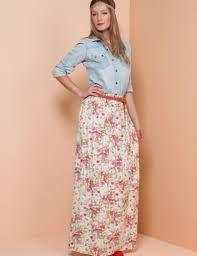 saias longas com estampas florais - Pesquisa Google