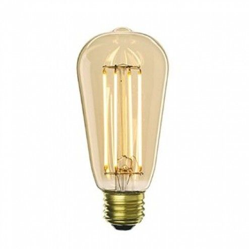 This LED vintage style Edison bulb will light up your home for 15,000 hours, 5x longer than it's incandescent twin. All while using less energy!