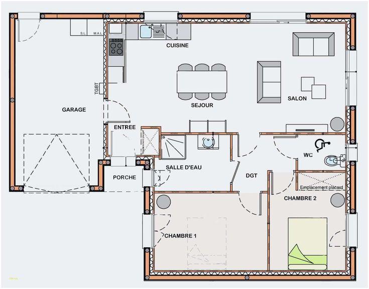 Plan De Maison 2 Chambres Salon Cuisine Pdf 3