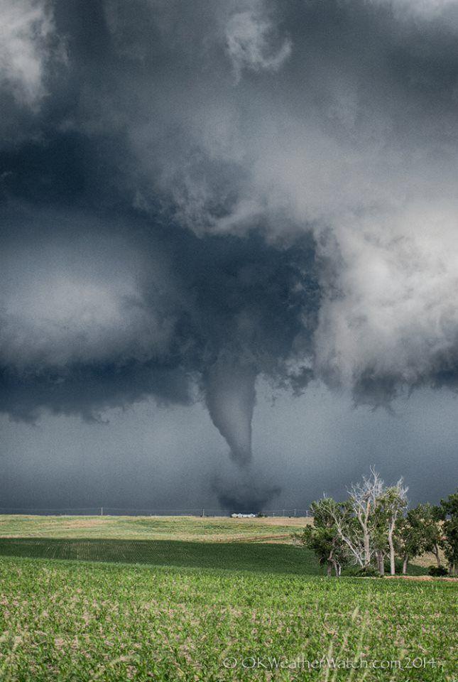 """Nice little """"out in the country"""" tornado near Benkelman, Nebraska - 19 June, 2011.... by David Ewoldt."""