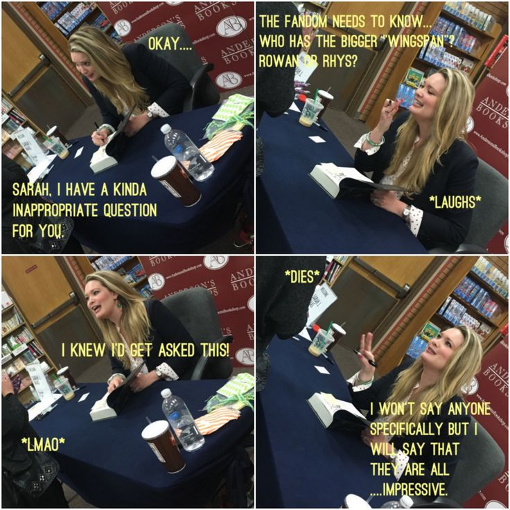 *applauds the girl who asked Sarah J Maas this in person*