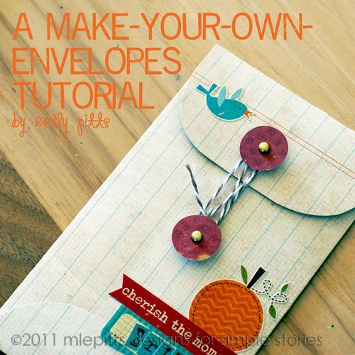Make your own envelope tutorial