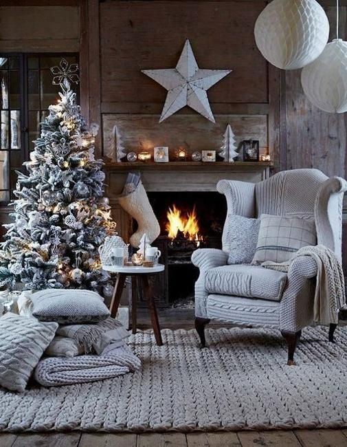 modern christmas colors and latest trends in decorating in black and white colors
