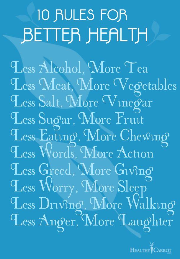 10 Tips for Better Health