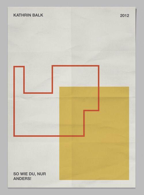 Kathrin Balk — Dominik Bubel Bauhaus style always works for me.
