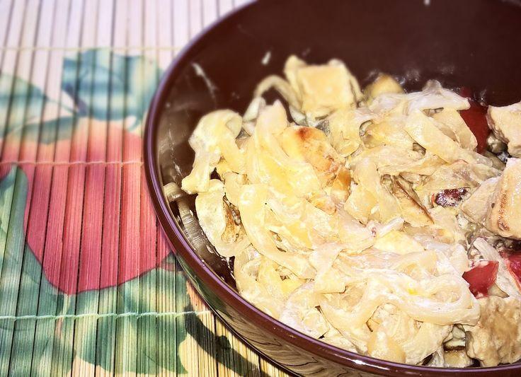 Kápia NoCarb csirke NoCarb szélesmetélt tésztából | Klikk a képre a receptért!