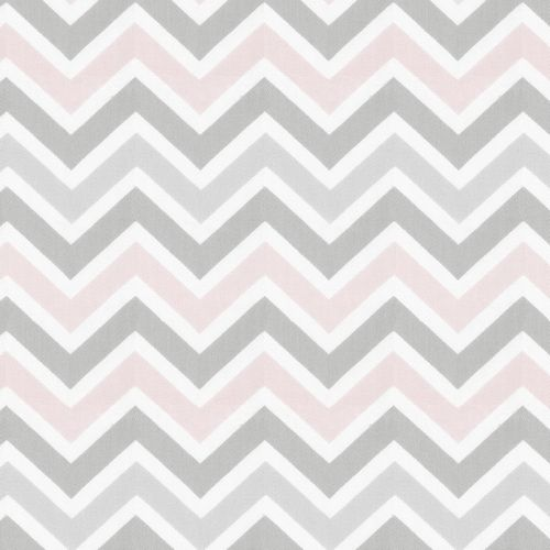 Pink and Gray Chevron Fabric by the Yard | Carousel Designs // for changing pad cover (1 yd/cover)