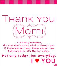 I love you mom poems on mothers day