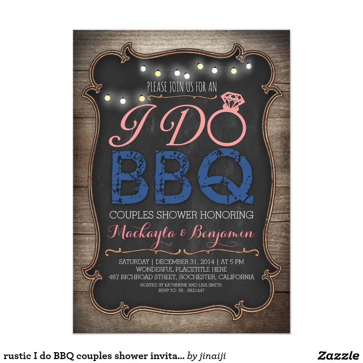 baby shower bbq invitation templates%0A rustic I do BBQ couples shower invitation