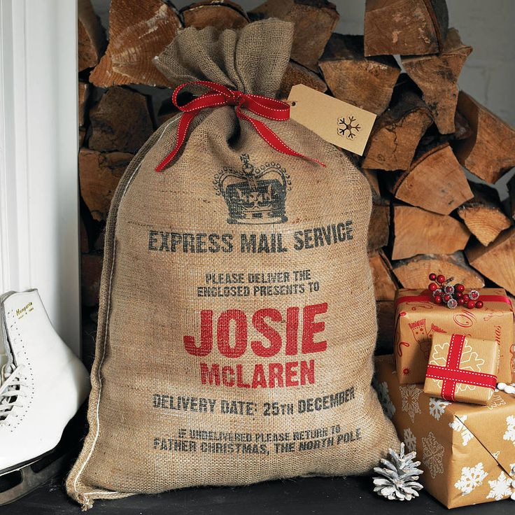 Personalised Christmas Sack: Holiday, Christmas Sack, Gift, Sacks, Santa Sack, Personalised Christmas, Christmas Idea, Personalized Christmas