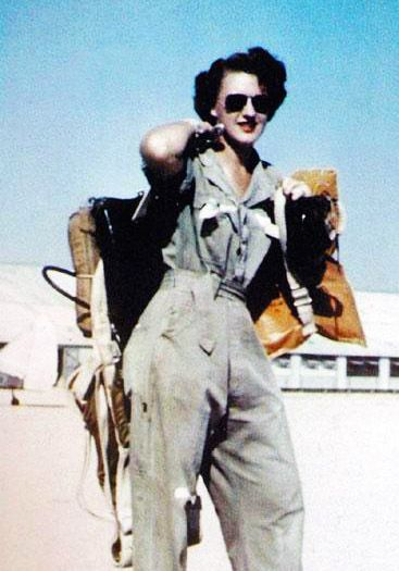 Lillian Yonally (above) was a WASP – a Women Airforce Service Pilot. During WWII, the 1,100 WASPs flew military aircraft on training flights in the USA to train volunteer male pilots for combat missions.