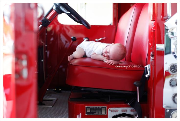 Amory Anderson Photography: Newest Hero: Firefighter Newborn Session (Concord, NC Photographer)