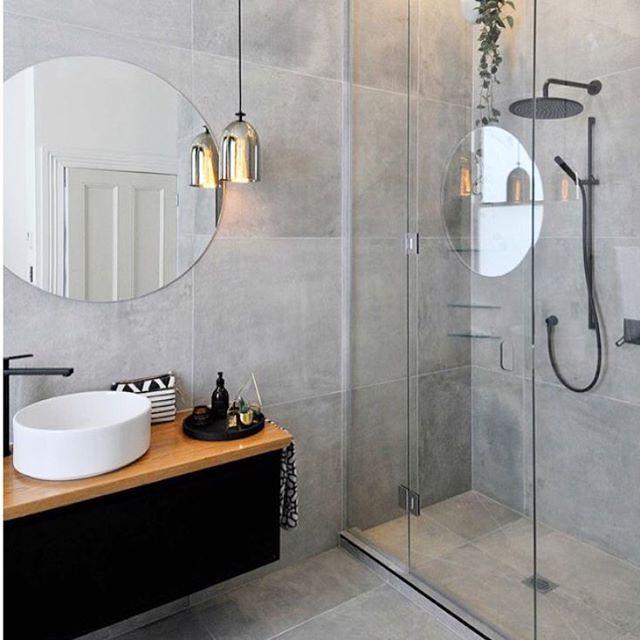 """1,164 gilla-markeringar, 3 kommentarer - @INREDNINGSDESIGN ✨ (@inredningsdesign) på Instagram: """"Fint badrum i betong. 😍 Vet dessvärre inte vem bilden tillhör då den är inspo från Pinterest."""""""