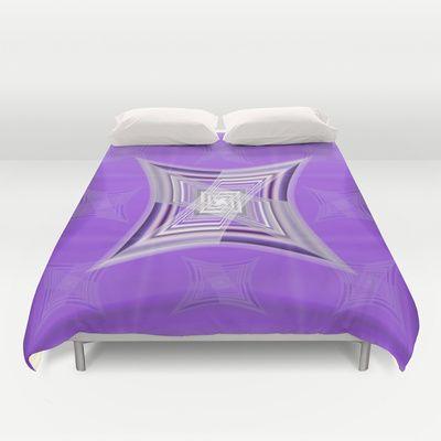 Purple Design 2 Duvet Cover by Christine baessler - $99.00