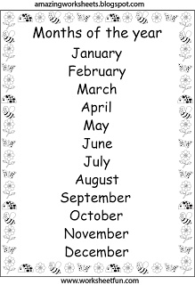 months of the year song for preschool months of the year worksheets for kindergarten free 260