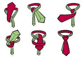Instructie afbeelding, hoe maak je een halve windsor knoop.