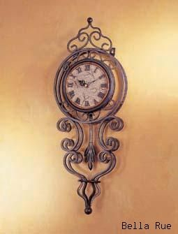 Vintage Tuscan Scroll Pendulum Wall Clock Darque Decor In 2018 Pinterest And Old Clocks