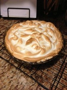 Trisha Yearwood's magic lemon meringue pie... I don't really know why they call it Trisha 's recipe cuz my family has been making this basic recipe for years and we got it from the Eagle Brand Sweetened condensed milk label. We do add a teaspoon of vanilla to the meringue.