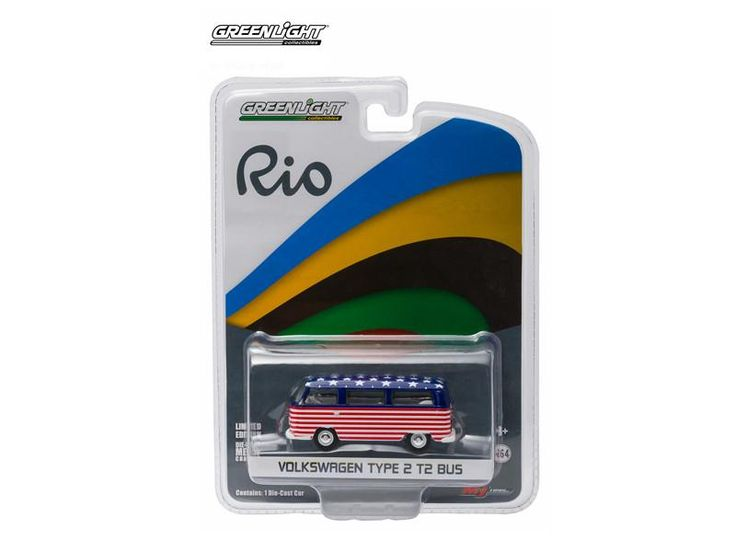 2016 World Games Rio Volkswagen Type 2 Bus Team USA 1:64 Diecast - 51037USA