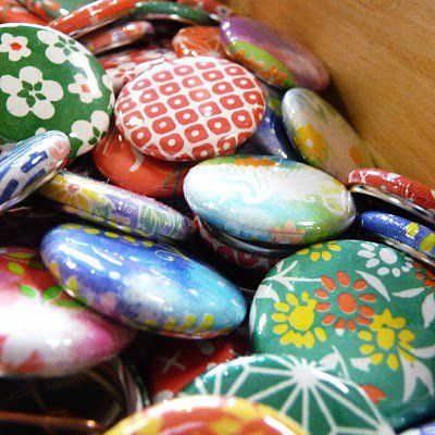 Buttons, badges and brooches  - use fabric or paper to recreate these