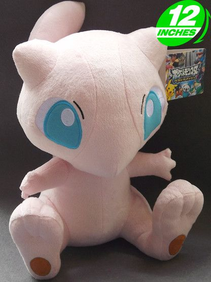 "Free Shipping 2015 New Cute Anime Pokemon Mew Plush Toys Doll 12"" Soft Cartoon Stuffed Toys For Kids"