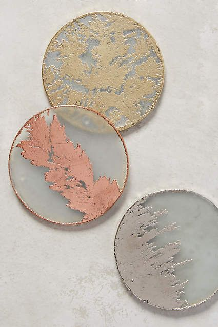Altaluna Coaster - anthropologie.com Gold (or one of each)