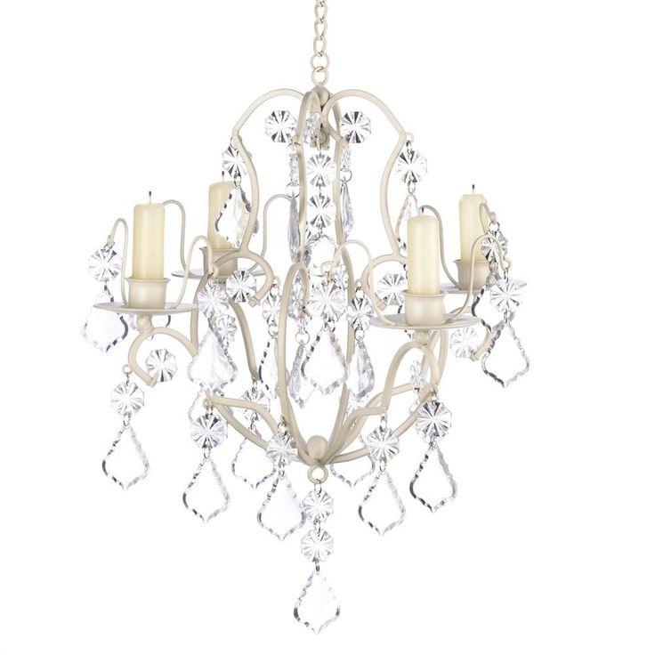 Koehler Home Decor Ivory Baroque Candle Chandelier Acrylic